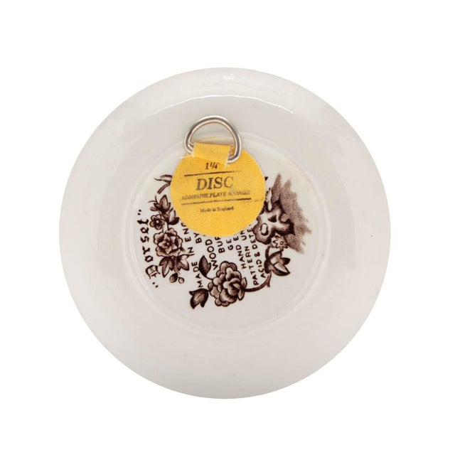 """Wood & Son Small English Ironstone Brown Transferware Plated """"Dorset"""" by Wood & Sons, Pair For Sale - Image 4 of 8"""