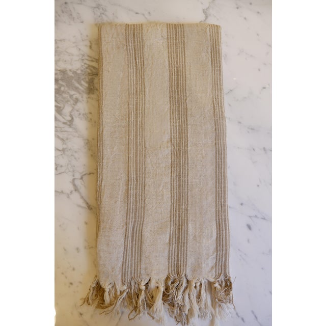 Turkish Hand Made Towel With Natural/Organic Cotton and Fast Drying,37x73 Inches For Sale - Image 11 of 11