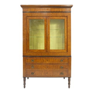 Neoclassical Style Vitrine on Chest From Rho Mobili D' Epoca of Italy For Sale