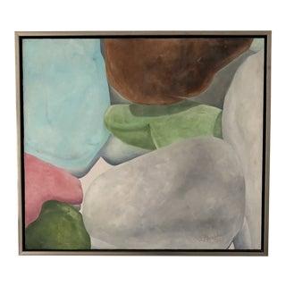 Contemporary Original Signed Encaustic Seaglass Painting For Sale