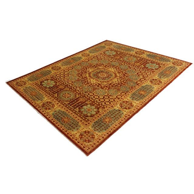 """Islamic Hand Knotted Mamlok Rug by Aara Rugs Inc. - 8'6"""" X 6'1"""" For Sale - Image 3 of 5"""
