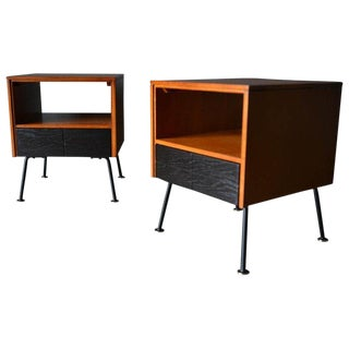 1950s Mid-Century Modern Raymond Loewy for Mengel Side Tables - a Pair For Sale