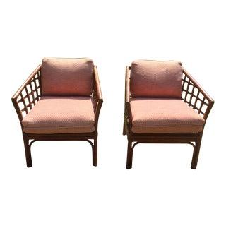 Brown Jordan Club Chairs - A Pair For Sale
