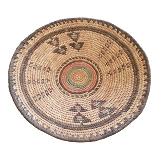 Antique African Grass Woven Basket
