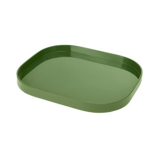 Miles Redd Collection Medium Stacking Tray in Lettuce Green For Sale