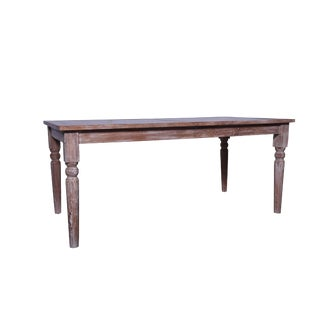 Rustic Cyrano Wooden Dining Table For Sale