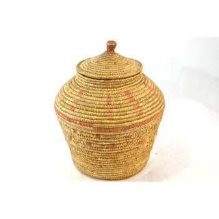 Native American Hand Woven Lidded Jar Preview