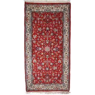 1980s, Handmade Vintage Indo-Tabriz Rug 2.4' X 4.7' For Sale