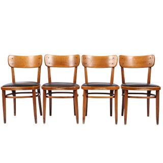 Vintage Swedish Gemla Cafe Chairs - Set of 4