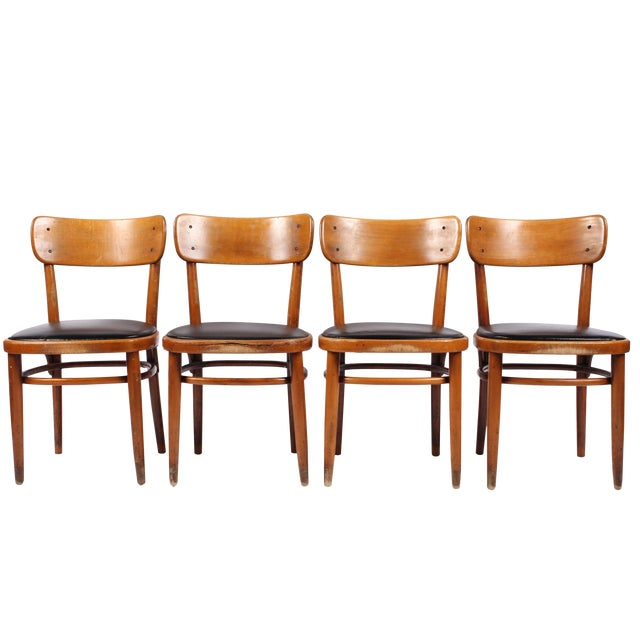 Vintage Swedish Gemla Cafe Chairs - Set of 4 For Sale