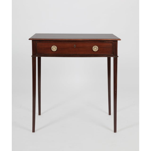 Auburn Antique English George III Mahogany Side Table For Sale - Image 8 of 8