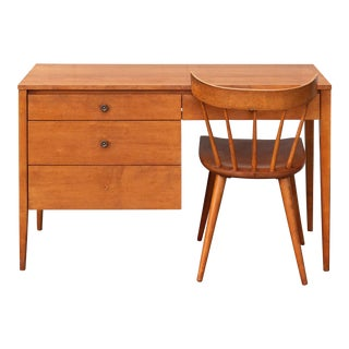 1960s Vintage Paul McCobb Planner Group Desk and Chair by Winchendon For Sale