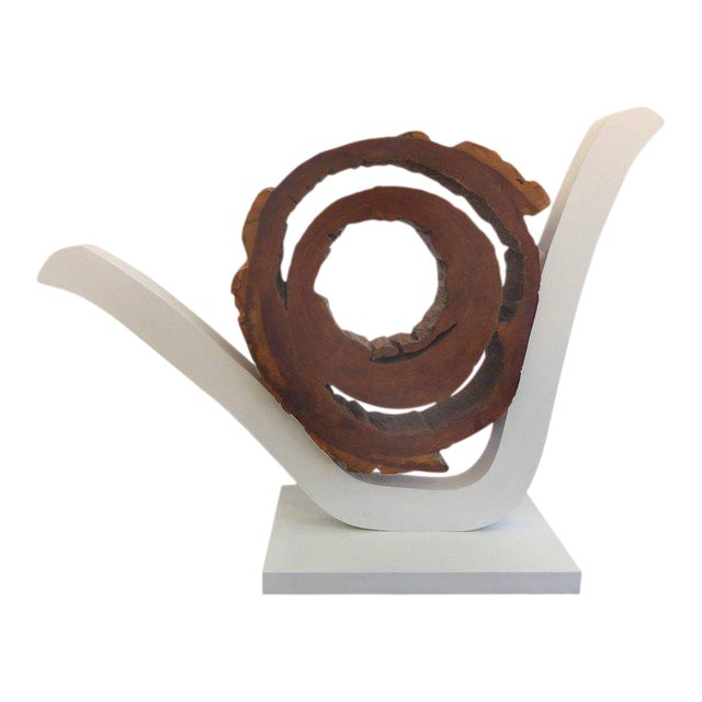 Ipe Reclaimed Wood Mounted Sculpture by Valeria Totti For Sale