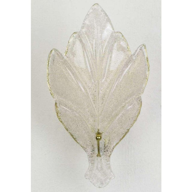 Pair Murano Glass Maple Leaf Wall Sconces - Image 5 of 5
