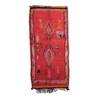 Vintage Moroccan Boujad Rug - 4′4″ × 8′11″