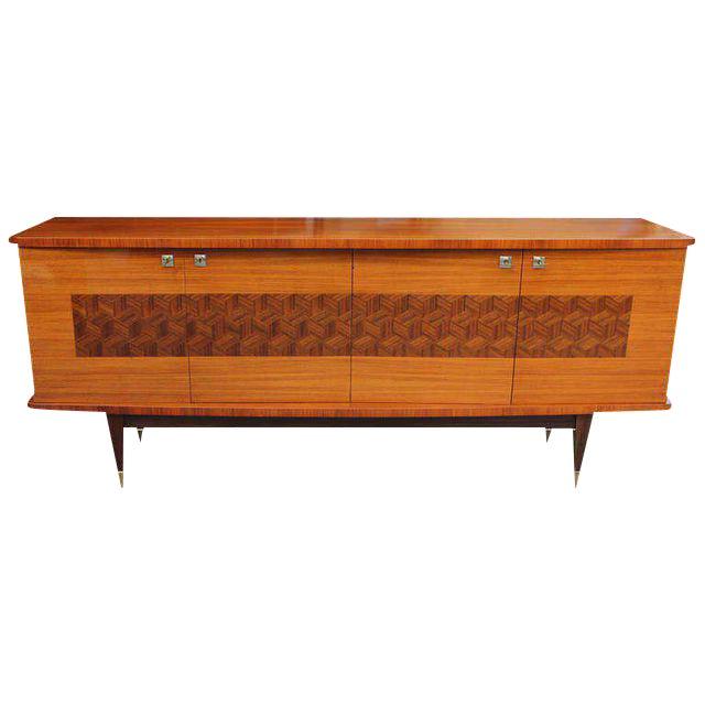 French Art Deco Light Macassar Ebony Sideboard / Buffet Circa 1940s - Image 1 of 10