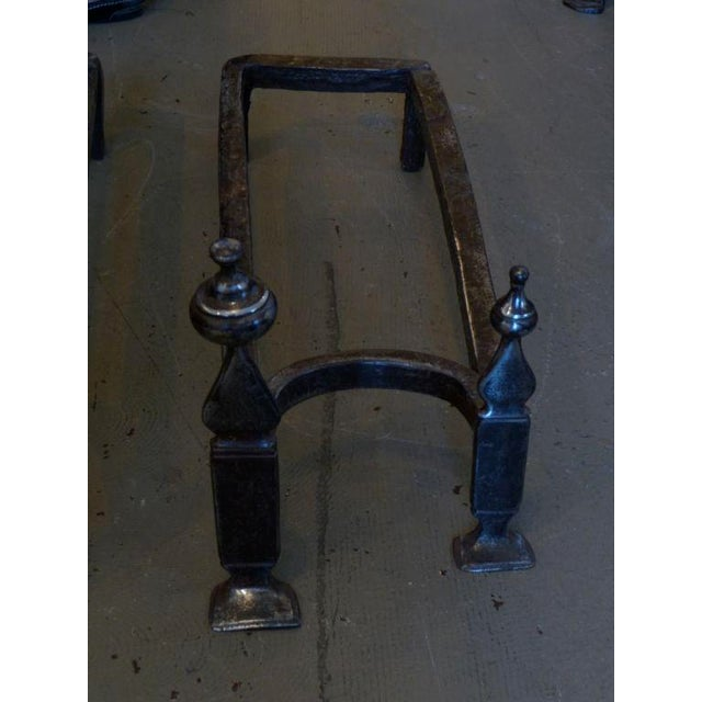 Mid 18th Century 18th Century Double Andirons For Sale - Image 5 of 7
