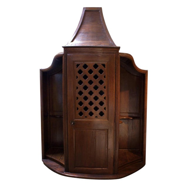 18th Century French Oak Confessional For Sale