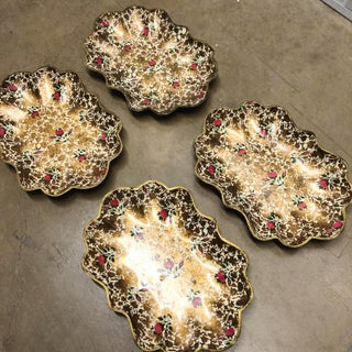 Vintage Japanese Gold Tone Serving Trays Preview