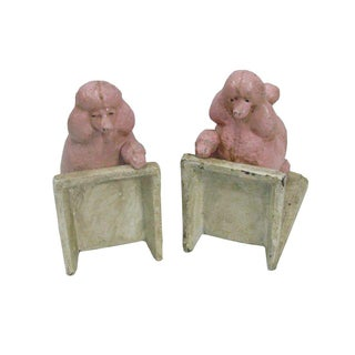 Pink Cast Iron Poodle Bookends - A Pair Preview