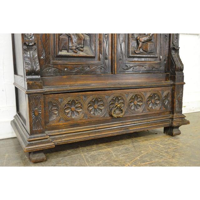 Antique Jacobean Flemish Carved Cabinet - Image 10 of 11