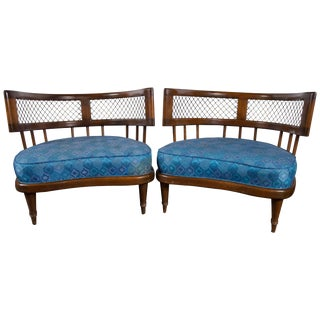 1950s Vintage Billy Haines Style Low Lounge Chairs- a Pair For Sale