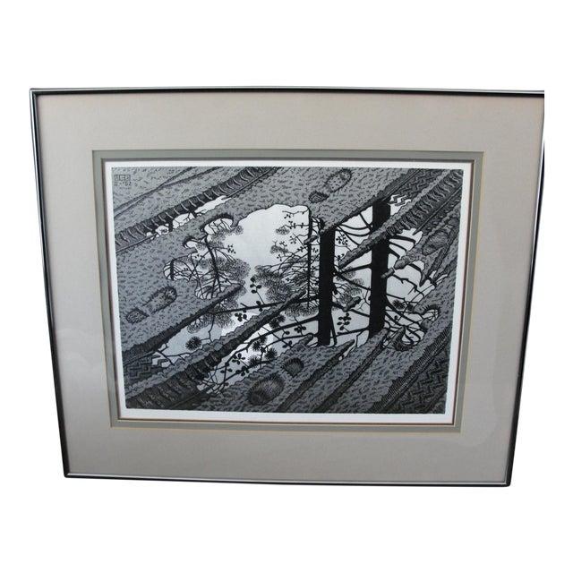 Vintage 'Puddle' Print by M.C. Escher For Sale
