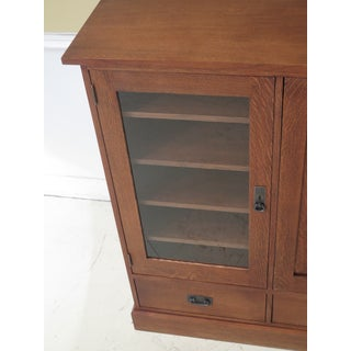 Stickley Mission Oak Arts & Crafts Style Media Cabinet Preview