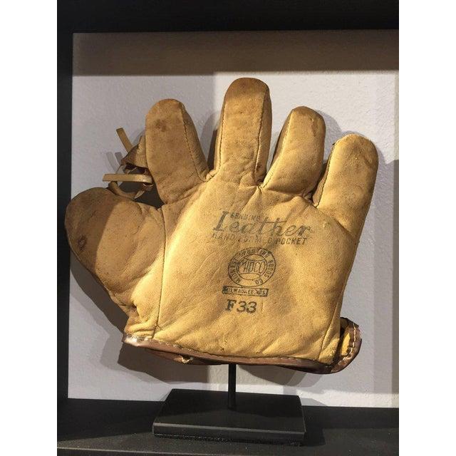 Rare Antique Miniature Children's Set of Nine Custom Framed Baseball Gloves Mitt - Image 10 of 10
