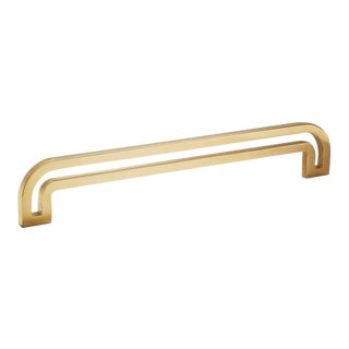 Deco-12 Polished Brass No Lacquer Handle For Sale