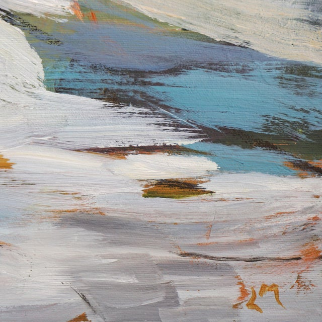 """""""Land Lines"""" Abstract Landscape Painting by Laurie MacMillan, Framed For Sale In Los Angeles - Image 6 of 7"""