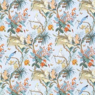 Scalamandre Cinque Terra Fabric in Coral Sky Sample For Sale