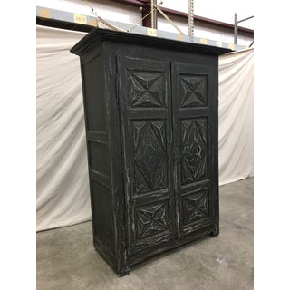 French Antique Painted Two Door Cabinet Armoire - 19th C Preview
