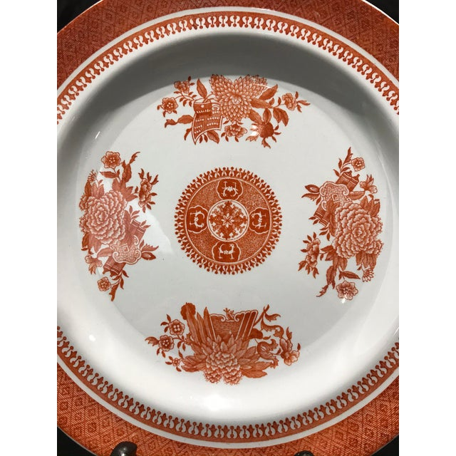 1950s Coral Copeland Spode Fitzhugh Plates 3 Piece Service for 8 - Set of 26 For Sale - Image 10 of 12