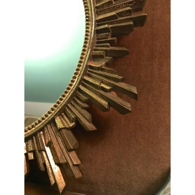 1960s Hollywood Regency Revival Giltwood Wall Mirror For Sale - Image 4 of 6