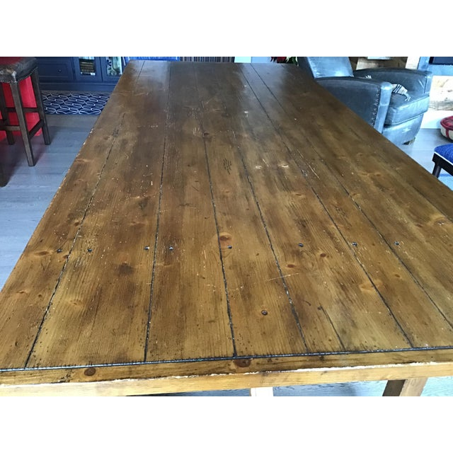 Country Pottery Barn Dining Table with Bench For Sale In Boston - Image 6 of 11