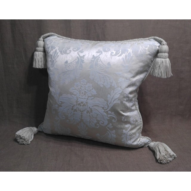 2000 - 2009 Anichini Silk Damask Throw Pillow For Sale - Image 5 of 5