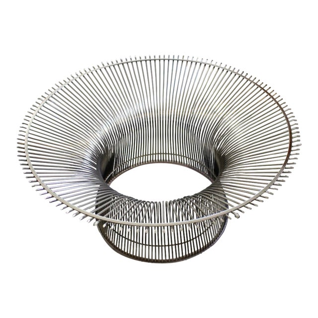 Warren Platner for Knoll Chrome & Beveled Glass Top Coffee Table For Sale