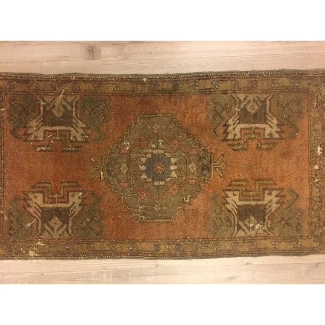Vintage Turkish Anatolian Rug - 1′6″ × 2′11″ - Image 2 of 6