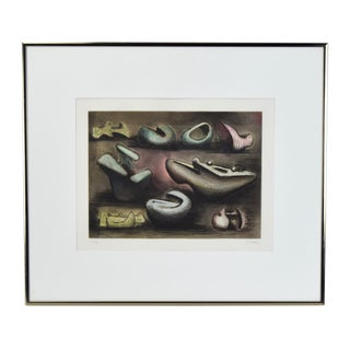 """1980s Henry Moore """"Sculptural Ideas #1"""" Aquatint Etching For Sale"""