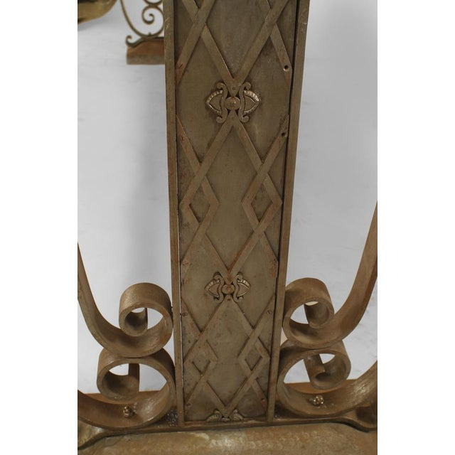 French Art Deco Large Rectangular Iron Scroll Side Center Table For Sale In New York - Image 6 of 8