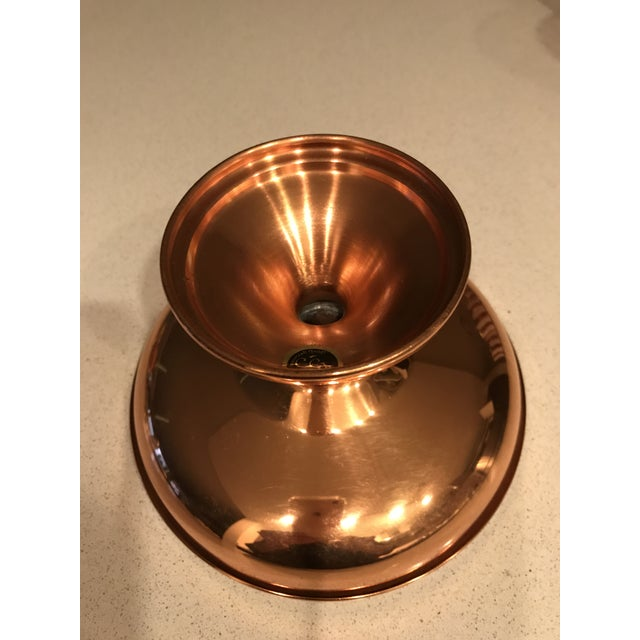 Copper Candy Dish / Compote For Sale - Image 4 of 4