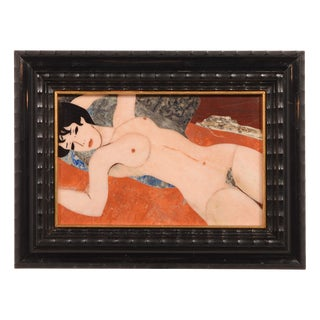 Reclining Nude Pietra Dura Plaque For Sale