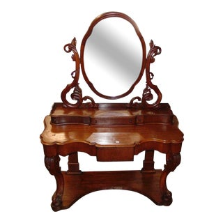 19th Century Victorain Mahogany Vanity Dressing Table For Sale