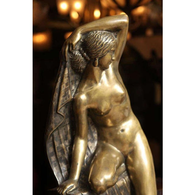 1920s Art Deco Figural Lamp by Fanny Rozet For Sale - Image 5 of 10