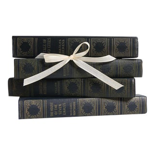 Vintage Book Gift Set: Midcentury Blue Classics, S/4