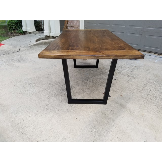 Modern Industrial Dining Table - Image 3 of 5