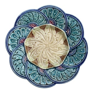 20th Century Belgian Majolica Plate For Sale