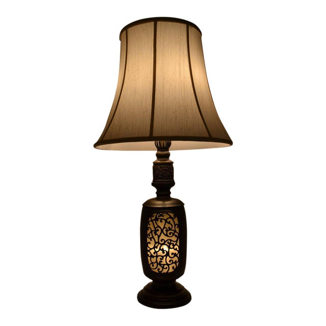 Antique Chinese Bronze Lantern Lamp For Sale