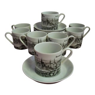 Traditional Porcelain Demitasse Service for 8 - Set of 16 For Sale